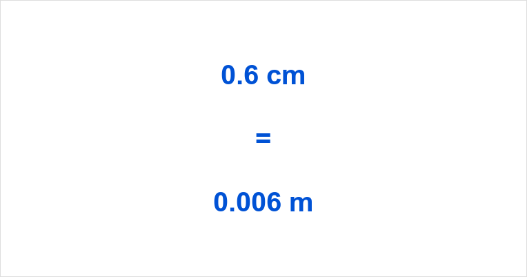 0.6 cm to m