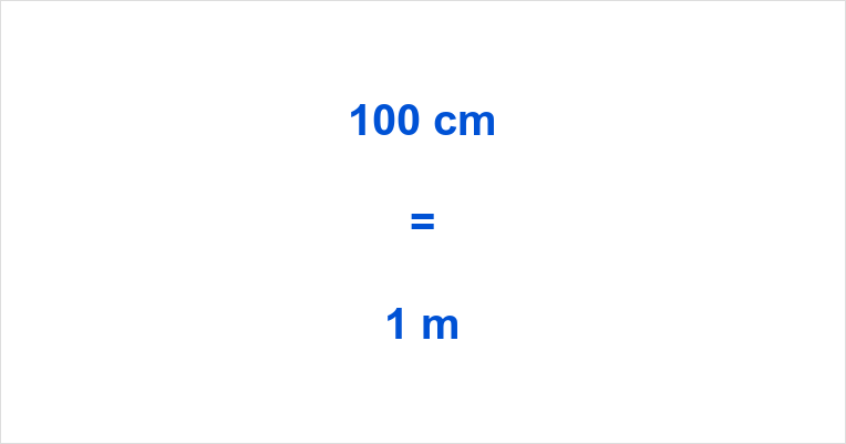 100 cm to m
