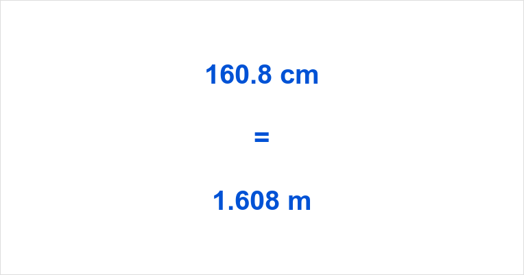 160.8 cm to m