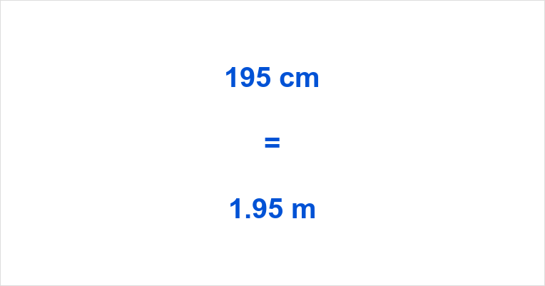 195 cm to m
