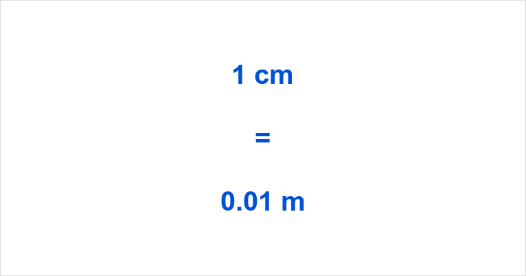 1 cm to m
