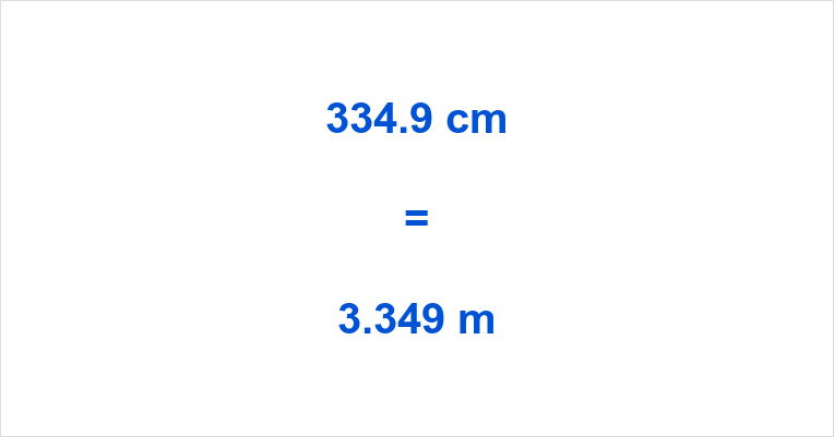 334.9 cm to m