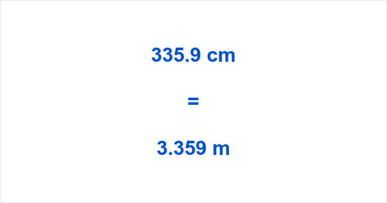 335.9 cm to m