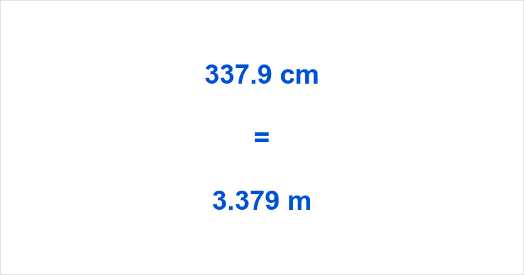 337.9 cm to m
