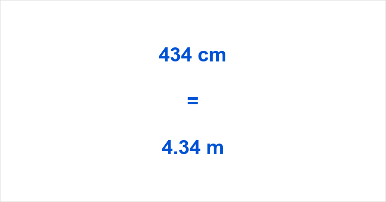 434 cm to m