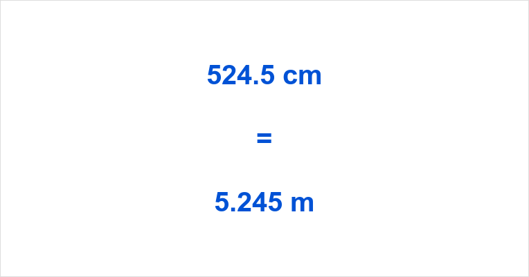 524.5 cm to m