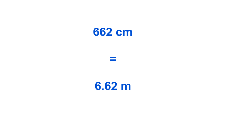 662 cm to m