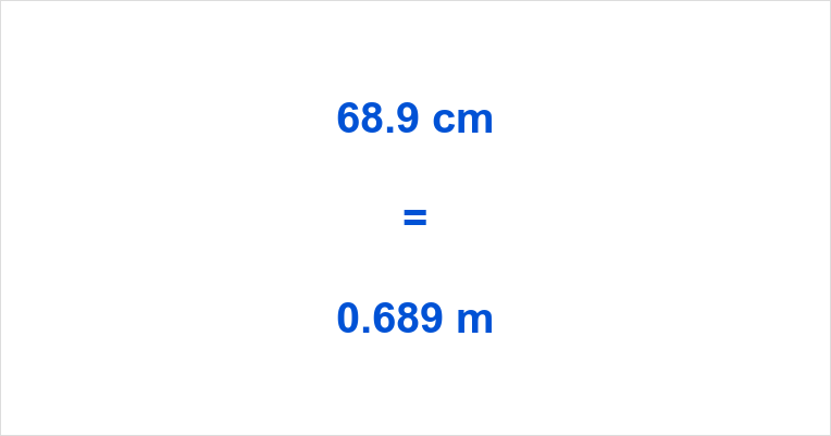 68.9 cm to m