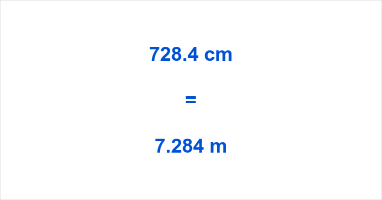 728.4 cm to m