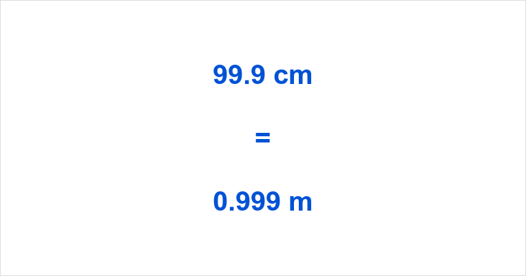 99.9 cm to m